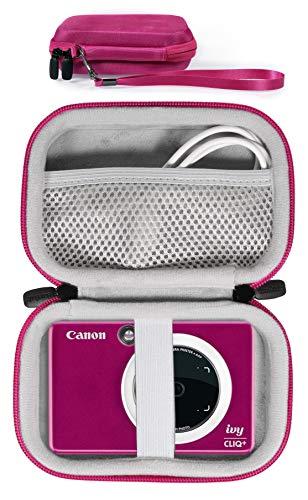 Protective Case for Canon Ivy CLIQ+, CLIQ, CLIQ 2, CLIQ+2 Instant Camera Printer and Mobile Mini Photo Printer, Also for HP Sprocket (2nd Edition), Sprocket (Pink)