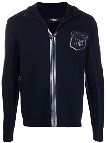 Fendi Luxury Fashion Herren FAE534A9QUF0QG0 Blau Wolle Sweatshirt   Herbst Winter 19