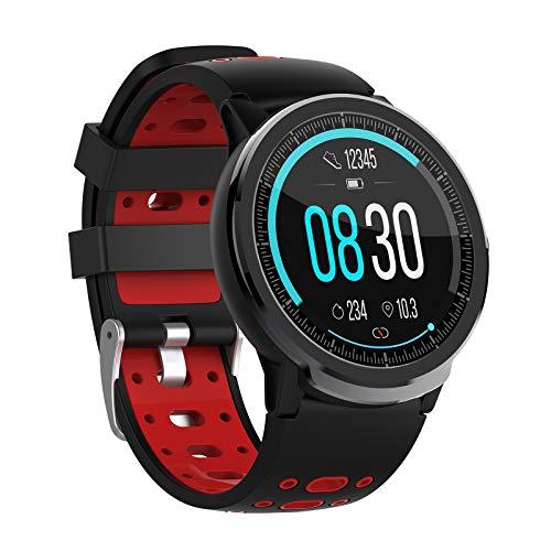 QFSLR Smartwatch,Pantalla De 1,3 Pulgadas Reloj Inteligente Deportivo Impermeable con Pulsómetros para Mujer Hombre, Monitor De Presión Arterial Ciclo Menstrual Femenino,Rosado