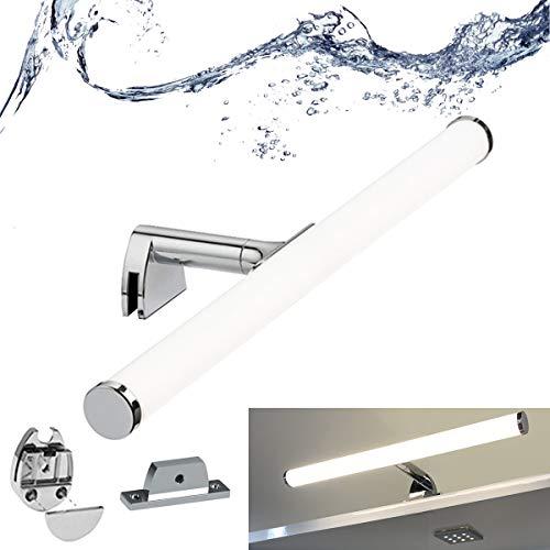 BarcelonaLED Aplique de Baño Lámapra de Espejo LED 7W 40 cm Impermeable IP44 Luz Maquillaje Blanco Neutro 4000K para Mueble Armario o Pared 3 en 1