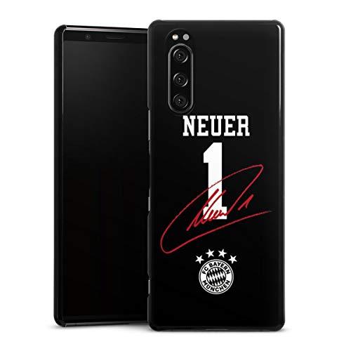 DeinDesign Hard Case kompatibel mit Sony Xperia 5 Schutzhülle schwarz Smartphone Backcover FC Bayern München FCB Manuel Neuer