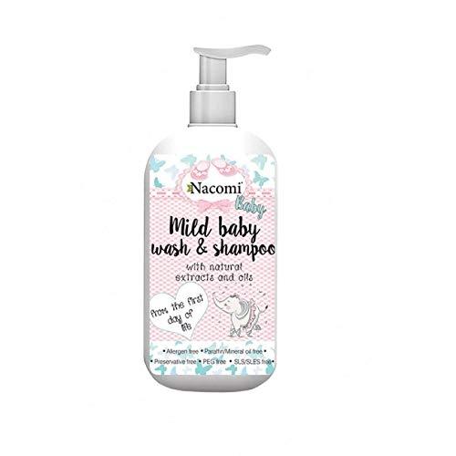 Nacomi Natural Mild Baby Wash & Shampoo 400ml