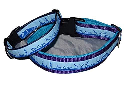 Hunde Halsband Skyline Die Ostsee hellblau blau