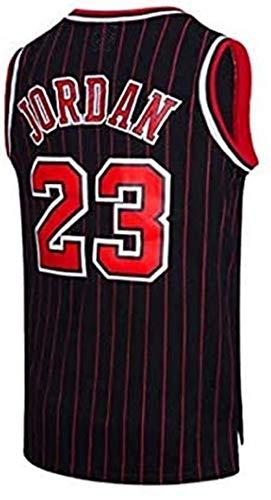 BeKing NBA Jersey Michael Jordan # 23 Chicago Bulls Basketballtrikot Herren Retro Weste Gym T-Shirt Sport, S-XXL, Schwarzes Band, L