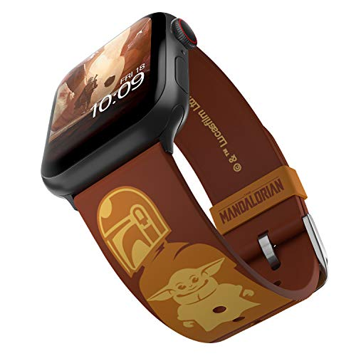 Star Wars: The Mandalorian - Desert Partners Edition – Officially Licensed Silicone Smartwatch Band Compatible with Apple Watch, Fits 38mm, 40mm, 42mm and 44mm