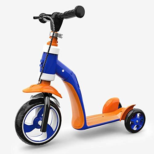 YHLZ Bicicleta de Equilibrio de los niños, los niños 2 en 1 Bicicletas Plegables Bicicletas Vespa Balance bebé Walker Correpasillos del Triciclo del bebé Niños (Color : Orange Blue)