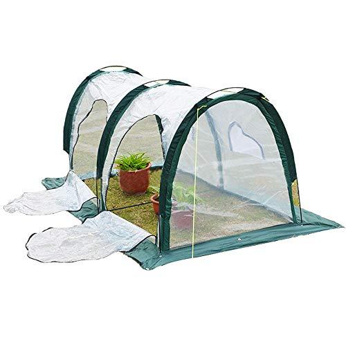 Pumpumly - Mini túneles portátiles para invernadero, para exteriores, jardín, patio, hogar, patio trasero, color verde