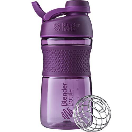 BlenderBottle SportMixer Twist Cap Tritan Grip Shaker Bottle, 20-Ounce, Plum