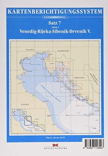 Sportbootkarten-Berichtigung Satz 7 (2019): Adria 1: Venedig - Rijeka - Sibenik - Drvenik V.