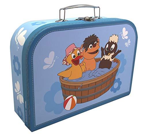 Kinderkoffer Pittiplatsch, Schnatterinchen und Moppi in der Badewanne: Spielzeugkoffer mit Metallhenkel und Metallverschluss