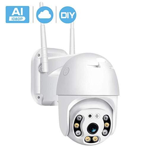 WYJW Überwachungskamera außen innen HD 1080P Nachtsicht-IP-Dome-Kamera Zweiwege-Audio IP66 wasserdichte 3,6-mm-Objektiv-Videoüberwachung, max. 64G SD-Karte mit kostenloser App