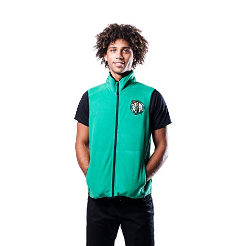 Ultra Game NBA Boston Celtics Mens Basic Full Zip Vest, Team Color, X-Large