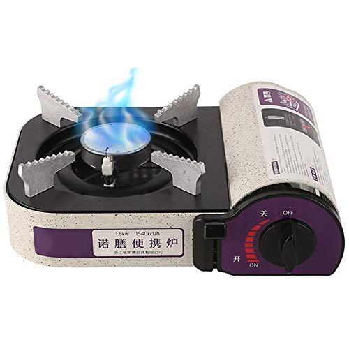 Lixada 1800W Portable Butane Gas Infrared Mini Cassette Grill Camping Butane Gas Stove Burner Furnace for Camping Picnic BBQ Hiking Traveling