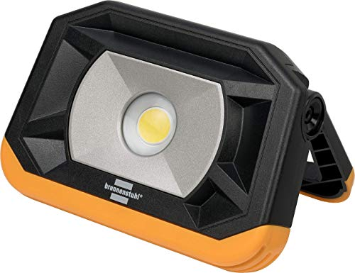 Brennenstuhl LED Arbeitsleuchte PF 1000 MA / LED Baustrahler im Taschenformat für außen (Akku Campinglampe mit 3 Schaltstufen und Powerbank, 1000lm, LED Notfallleuchte mit max. 13h Leuchtdauer, IP65)