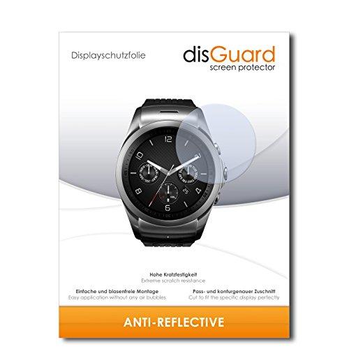 disGuard Displayschutzfolie für LG Watch Urbane LTE [2 Stück] Anti-Reflex, MATT, Entspiegelnd, Extrem Kratzfest, Anti-Fingerabdruck - Displayschutz, Schutzfolie, Panzerfolie