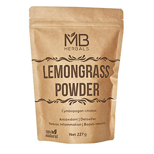 MB Herbals Lemongrass Powder 227 Gram | 8 oz/Half Pound | Lemon Grass Powder | Makes 75 Servings of Refreshing Lemongrass Tea