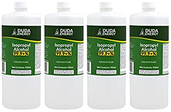 Duda Energy 4 x 950ml Bottles of 99.9+% Pure Isopropyl Alcohol Industrial Grade IPA Concentrated Rubbing Alcohol 1 Gallon Total Clear 32.12 Fl Oz  Pack of 4  128.4 Fl Oz