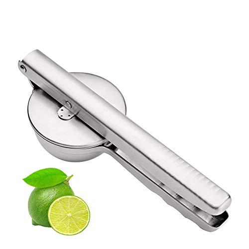 Exprimidor de limón de acero inoxidable, Exprimidor manual de lima y cítricos, Exprimidor de mano de metal para trabajo pesado, ideal para la escuela, dormitorios, bares, fiestas,Silver