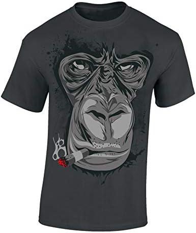 Camiseta: Gorila/Cigarro/Fumador /420 / Hipster/Fun-Shirt - Humor/T-Shirt Unisex