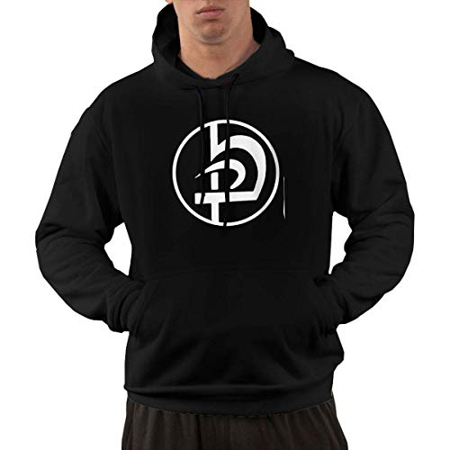 lifangtaoT Hombre Sudaderas con Capucha, Men's Hoodie Sweatshirt Krav Maga Logo Funky Bold Vibrant Black
