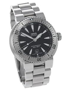 Oris Men's 73375334154MB Divers Black Dial Stainless Steel Watch image