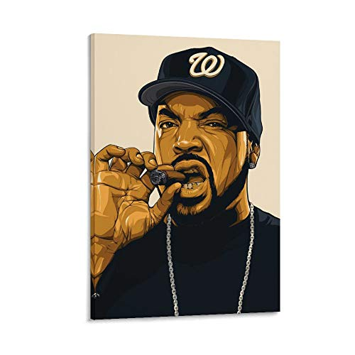 Zhanyun Ice Cube Canvas Art Poster and Wall Art Picture Print Modern Family Bedroom Decor Posters 12x18inch(30x45cm)