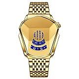 BestSiller Reloj de estilo diamante, resistente al agua, reloj de cuarzo de banda de acero de moda para hombres y mujeres