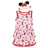 Disney Minnie Mouse PJ Set and Sleep Mask for Girls, Size 2