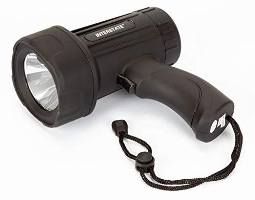 Interstate Batteries 250 Lumen LED Spotlight 4AA 5 Watt Black Flashlight LIG7997