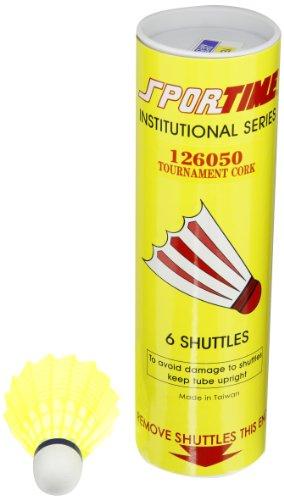 Sportime Badminton Shuttlecocks  Tournament Yeller  Pack of 6  006737