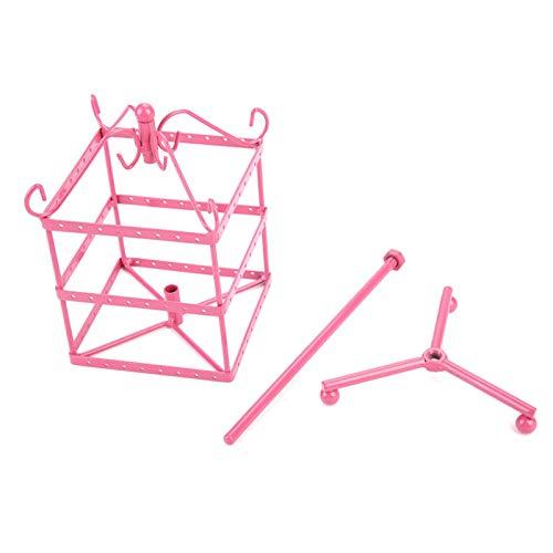 Soportes de exhibición de joyería hermosos y prácticos, duraderos, para exhibir o almacenar collares, aretes, pulseras(Pink)