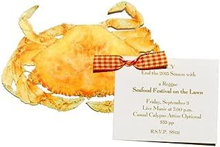 Orange Crab Die-cut Card, Pack of 10