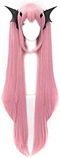 Tsnomore Seraph Of The End Krul Tepes Long Straight Pink Cosplay Headwear and Wig
