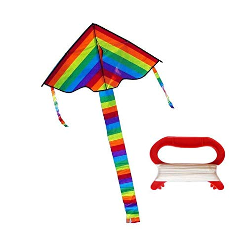 Bunter Regenbogen-Drachen Long Tail Nylon Outdoor-Drachen Fliegen Spielzeug für Kinder Kinder Kite Surf mit 300Cmkite Linie High Quality