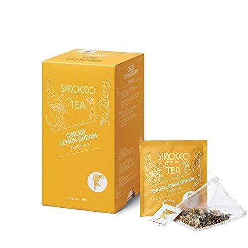SIROCCO ( シロッコ ) ハーブティー ジンジャーレモンドリーム ティーバッグ [ スイス ブランド 2g × 20袋 個包装 ] 正規輸入品