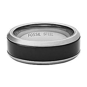 Fossil -Bandring Edelstahl Achat Ringgröße 58 JF02928040-9