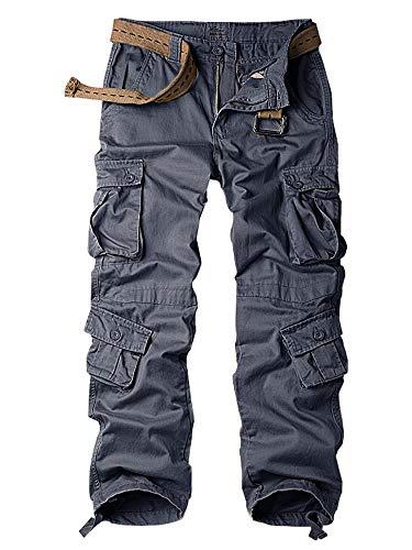 TRGPSG Pantalones de Carga para Hombre Pantalones de Trabajo de Estilo Militar, Pantalones de Carga Casuales con múltiples Bolsillos Pantalones Deportivos de Combate de algodón para el hogar