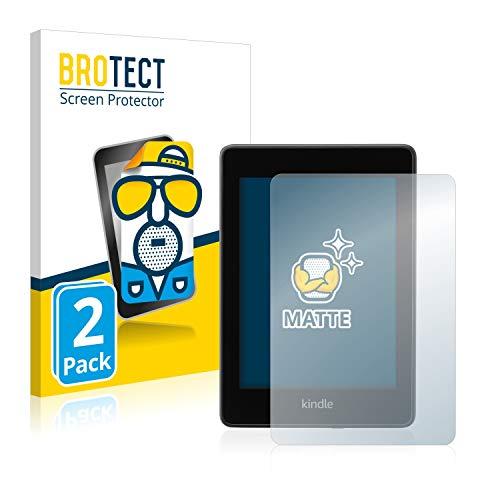 BROTECT Protector Pantalla Anti-Reflejos Compatible con Amazon Kindle Paperwhite 2018 (10a generación) (2 Unidades) Pelicula Mate Anti-Huellas
