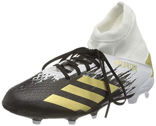 adidas Predator 20.3 FG J, Scarpe da Calcio, Ftwr White/Gold Met./Core Black, 36 EU