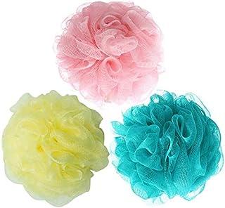 Sohapy 3 Pack Bath Shower Sponge, Mesh Pouf Exfoliating Sponge Ball, Care Bath Sponges For Men & Women
