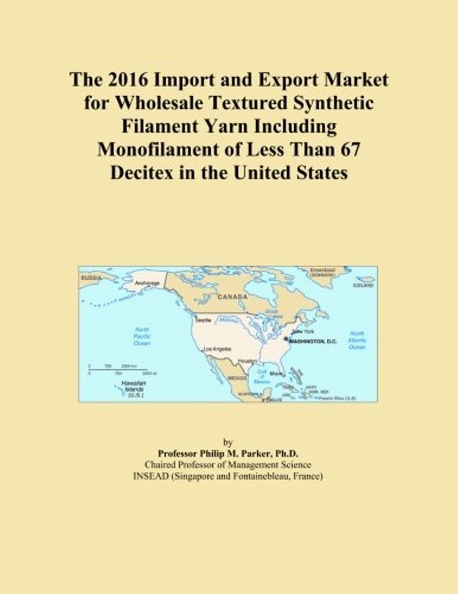 人間ソーセージかまどThe 2016 Import and Export Market for Wholesale Textured Synthetic Filament Yarn Including Monofilament of Less Than 67 Decitex in the United States