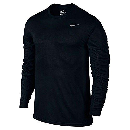 Nike 718837-010 Dry-Fit Mens LS Tee - Black - Large
