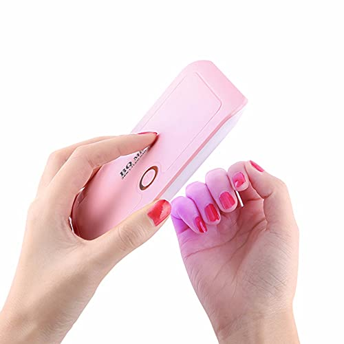 HYSK Mini Lámpara de uñas LED UV 36W, luz profesional de pulido de gel de secador de uñas, luz de uñas con 2 ajuste del temporizador, lámpara de uñas plegable portátil Pink