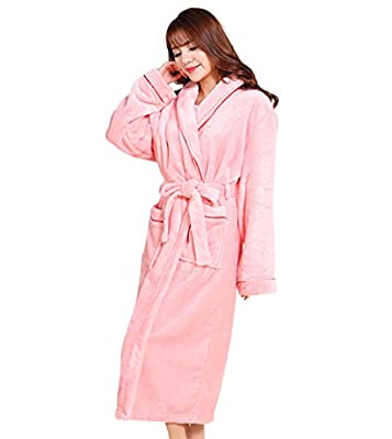 Tortor 1Bacha Women Lady Soft Plush Fleece Bathrobe Long Bath Robe