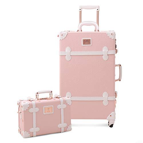 Unitravel , Set di valigie Unisex adulti Light Rose Suitcase M(58cm-36L) + 2nd bag 30cm