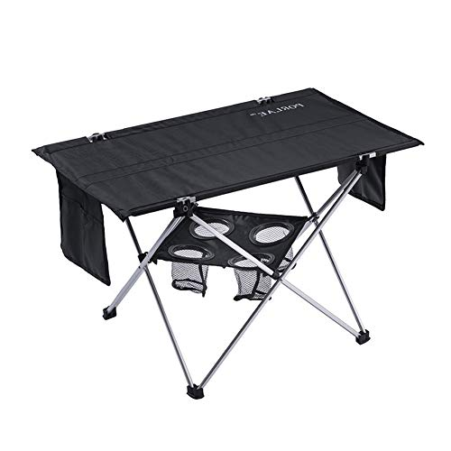 Outdoor Folding Table with Cup Holders Foldable Portable Tables with Carry Bag for Outdoor Camping Hiking and Picnic