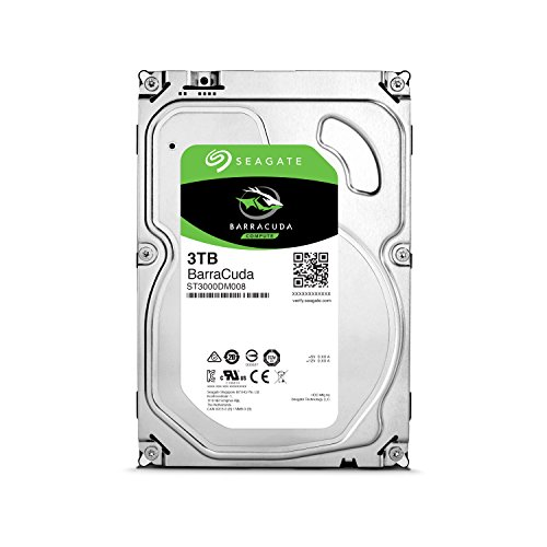Seagate 内蔵ハードディスク 3.5インチ 3TB PCユーザー向け BarraCuda ( SATA 6Gb/s / 7200rpm / 2年保証 ) 正規代理店品 ST3000DM008