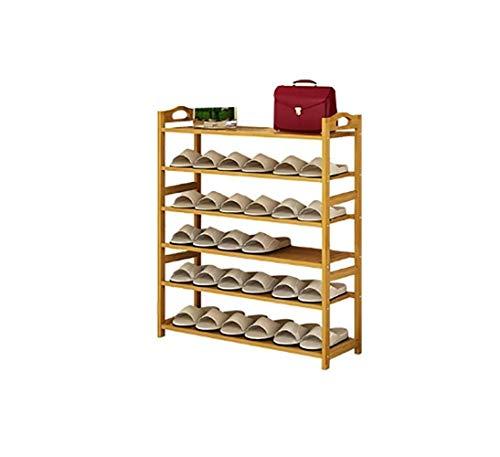 Zapateros bambú Sencilla y Moderna de Madera hogar Multicapa Montaje Simple Cambio de Zapatos Polvo Estante (Size : 89 * 25 * 106cm)