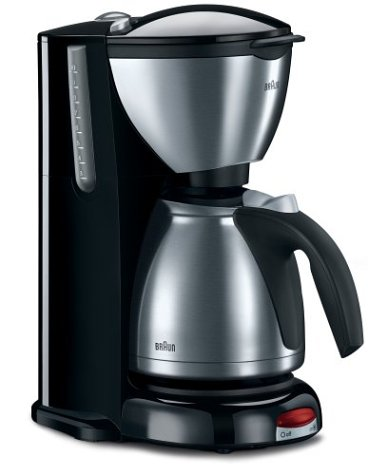 Braun KF600 Impressions 10-Cup Thermal Coffeemaker, Brushed Stainless Steel