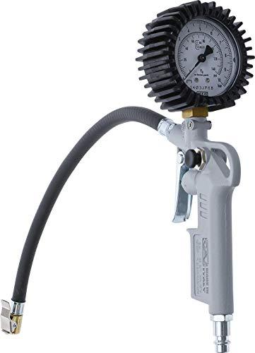 BGS 55400 | Druckluft-Reifenfüllpistole | geeicht | 0 - 10 bar | Reifenfüllmessgerät | Reifendruckmesser | Reifenfüller | Reifendruckprüfer